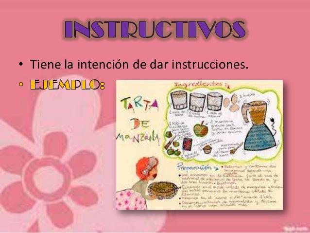 • Tiene la intención de dar instrucciones.