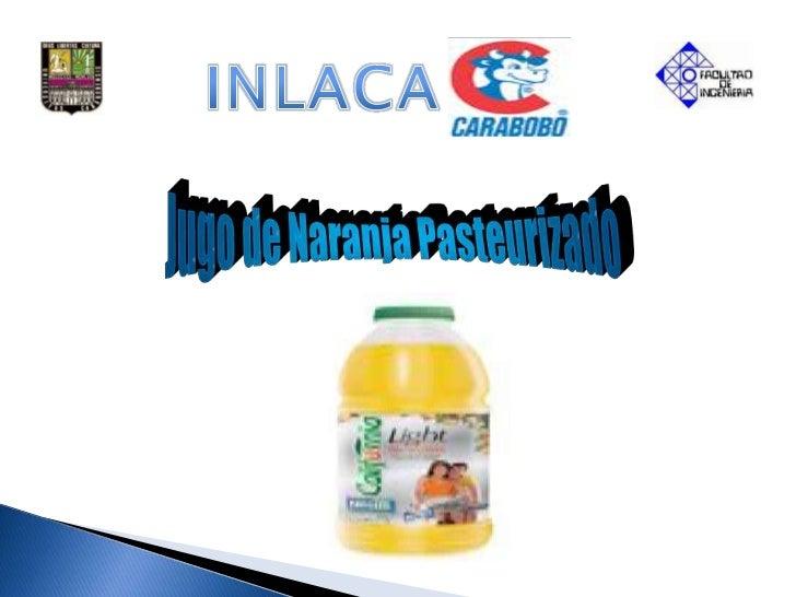 INLACA<br />Jugo de Naranja Pasteurizado<br />