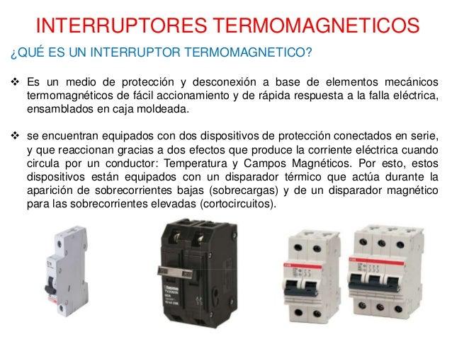 Diapositivas interruptor termomagnetico - Que es un emisor termico ...