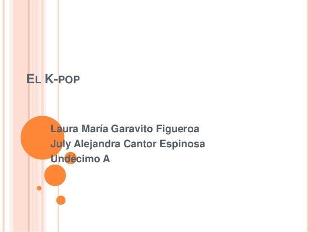 EL K-POP   Laura María Garavito Figueroa   July Alejandra Cantor Espinosa   Undécimo A