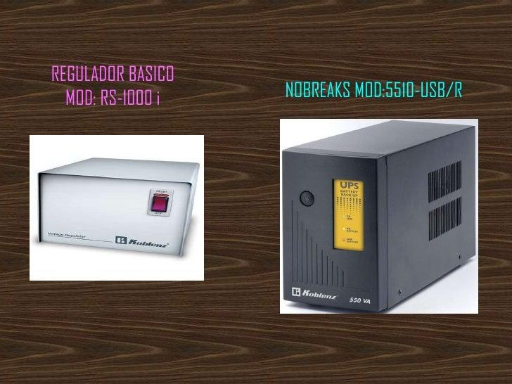 REGULADOR BASICO MOD: RS-1000 i NOBREAKS MOD:5510-USB/R