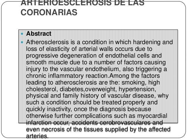 Clasificación  La arterioloesclerosis que afecta a las arterias pequeñas y arteriolas y puede causar una lesión isquémica...