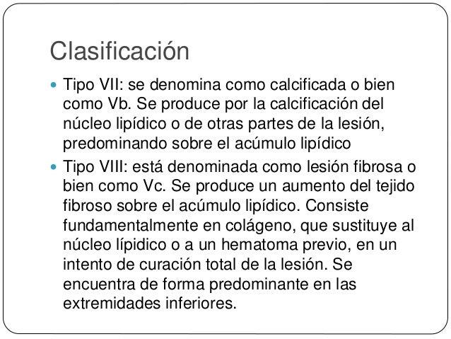 Complicaciones de la placa de ateroma:  Rotura, ulceración o erosión: de la superficie de la íntima en las placas, deja a...