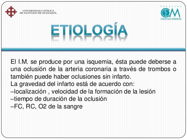 El 10% →lesión transmural = Sin enf. oclusiva pero pueden darse infartos atribuyentes a un espasmo de la arteria coronaria...