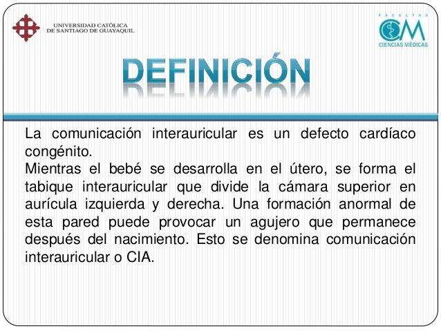 CIA DE TIPO FORAMEN OVAL CIA DE TIPO SENO CORONARIO CIA DE TIPO SENO VENOSO CIA DE TIPO OSTIUM PRIMUM