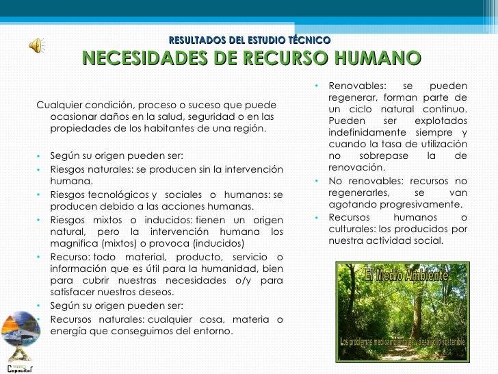 RESULTADOS DEL ESTUDIO TÉCNICO          NECESIDADES DE RECURSO HUMANO                                                     ...