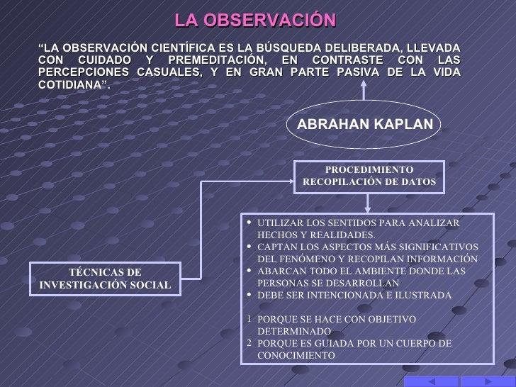 """LA OBSERVACIÓN""""LA OBSERVACIÓN CIENTÍFICA ES LA BÚSQUEDA DELIBERADA, LLEVADACON CUIDADO Y PREMEDITACIÓN, EN CONTRASTE CON L..."""