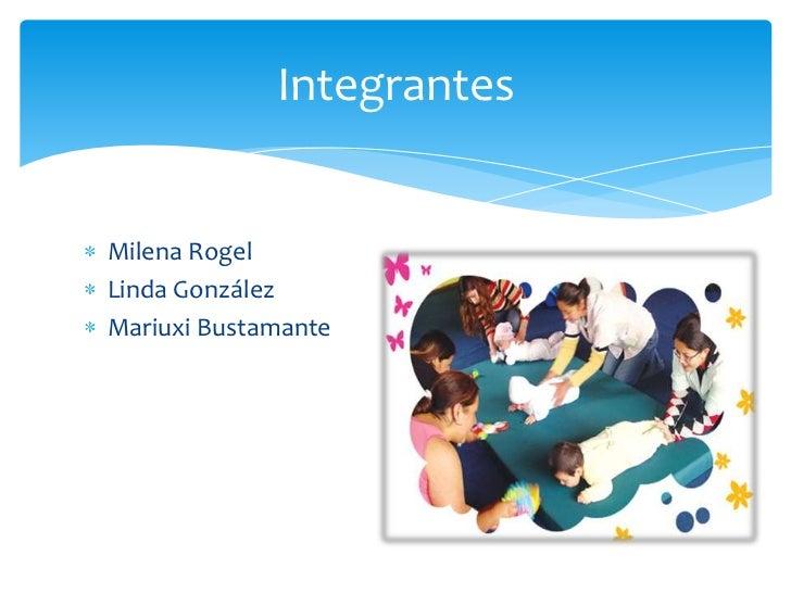 IntegrantesMilena RogelLinda GonzálezMariuxi Bustamante
