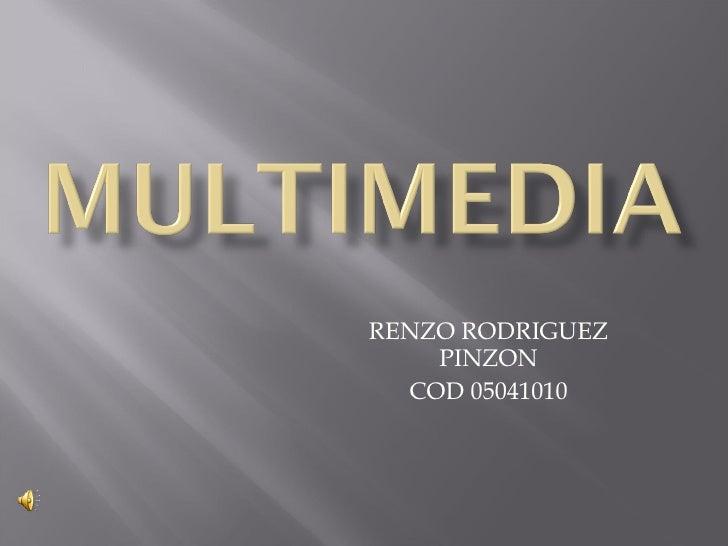 RENZO RODRIGUEZ PINZON COD 05041010