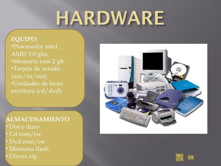 <ul><li>EQUIPO: </li></ul><ul><li>Procesador intel ,  AMD 3,0 ghz.  </li></ul><ul><li>Memoria ram 2 gb.  </li></ul><ul><li...