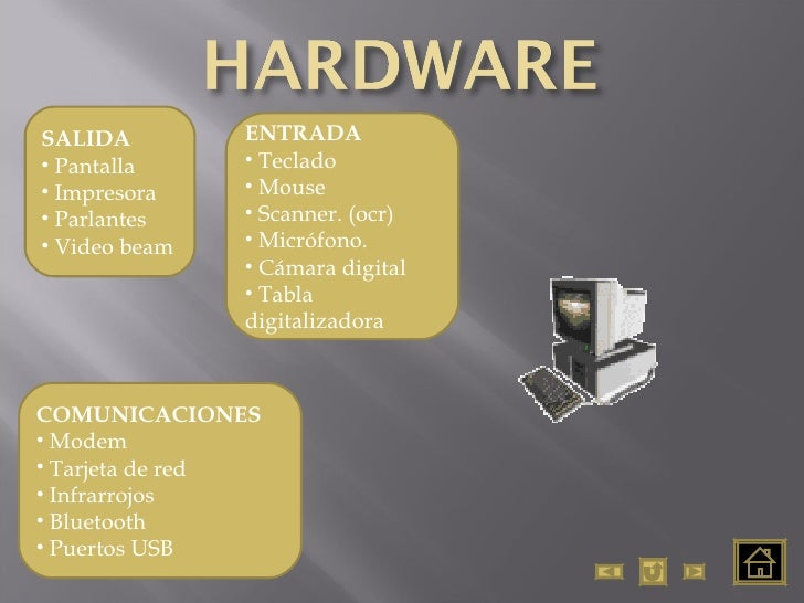 <ul><li>ENTRADA </li></ul><ul><li>Teclado </li></ul><ul><li>Mouse </li></ul><ul><li>Scanner. (ocr) </li></ul><ul><li>Micró...