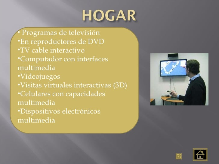 <ul><li>Programas de televisión </li></ul><ul><li>En reproductores de DVD </li></ul><ul><li>TV cable interactivo </li></ul...