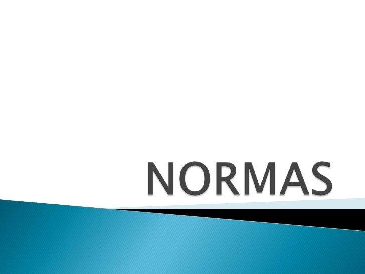 NORMAS<br />