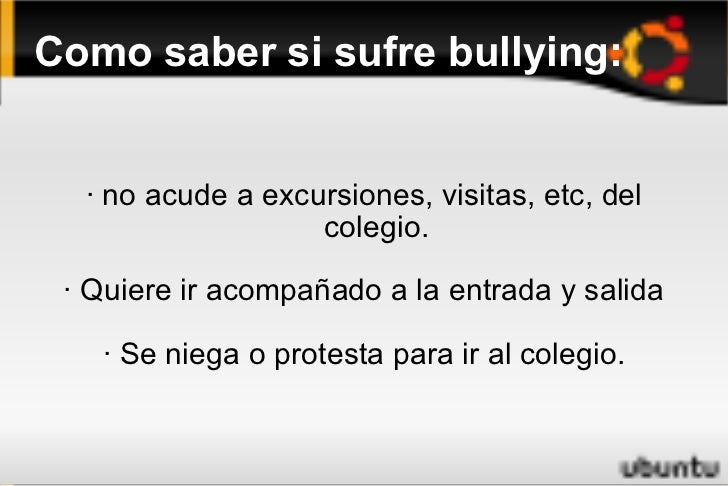 Diapositiva sobre el bullying 2 for Como saber si es marmol