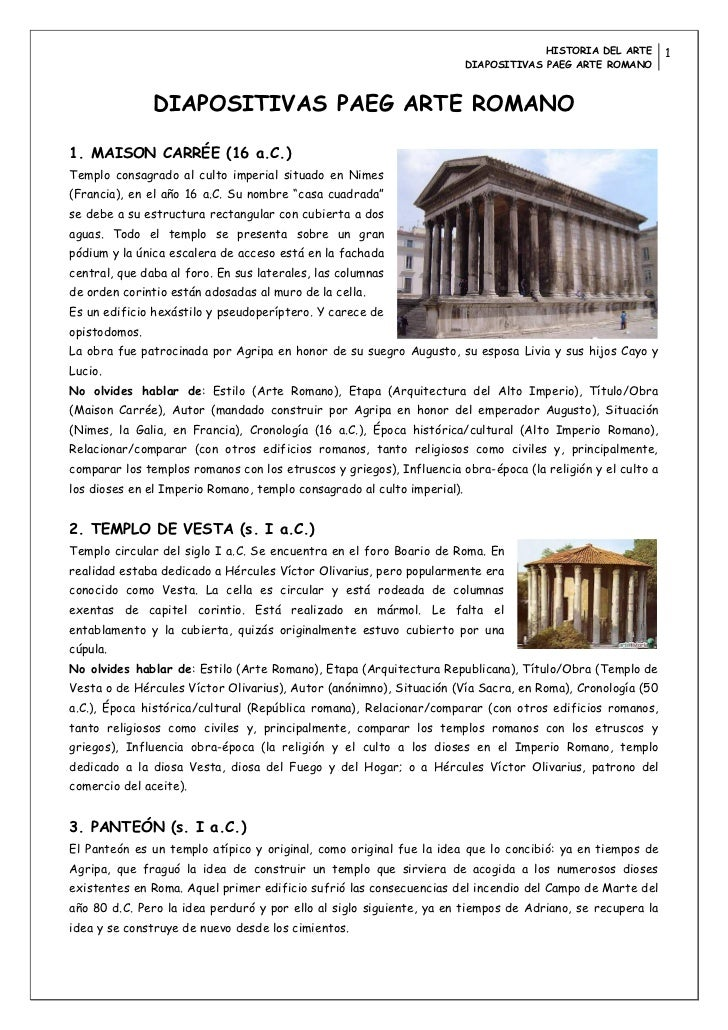 HISTORIA DEL ARTE     1                                                                         DIAPOSITIVAS PAEG ARTE ROM...