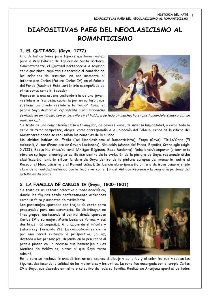 HISTORIA DEL ARTE            1                                              DIAPOSITIVAS PAEG DEL NEOCLASICISMO AL ROMANTI...