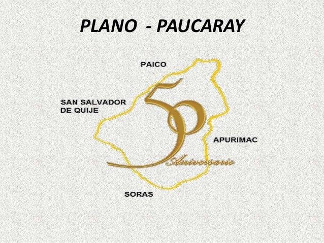PLANO - PAUCARAY