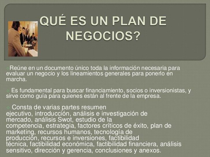 Diapositivas plan de negocios