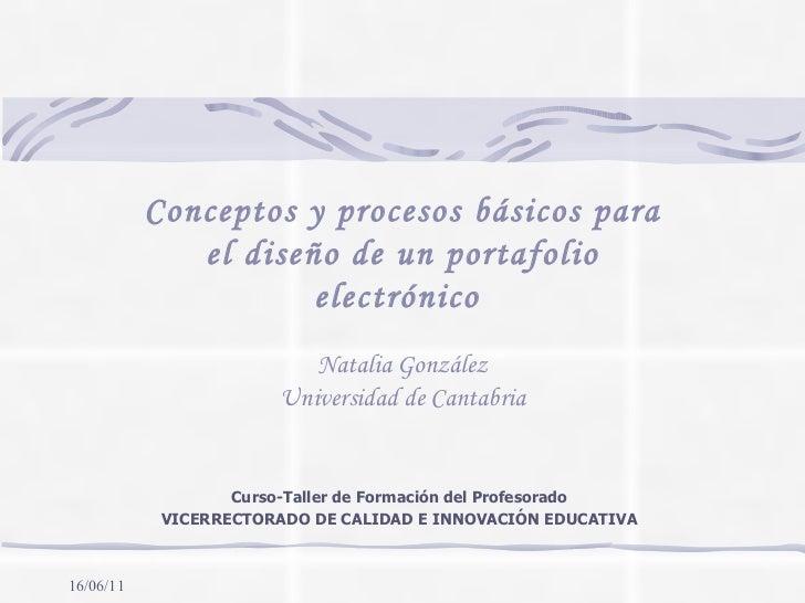 Curso-Taller de Formación del Profesorado VICERRECTORADO DE CALIDAD E INNOVACIÓN EDUCATIVA Conceptos y procesos básicos pa...