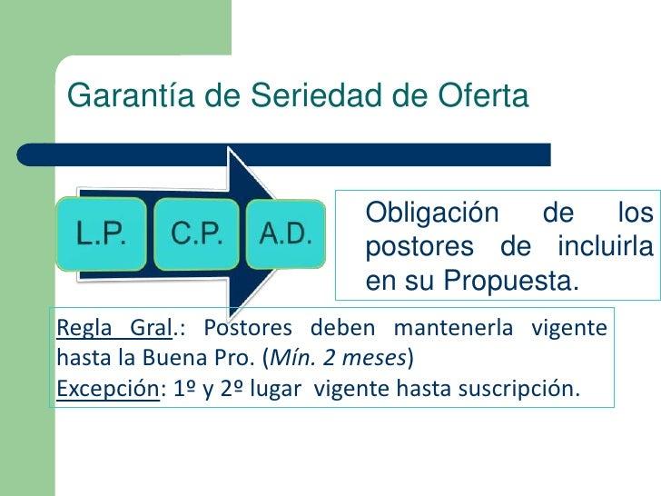 Garantía de Seriedad de Oferta                            Obligación   de  los                            postores de incl...