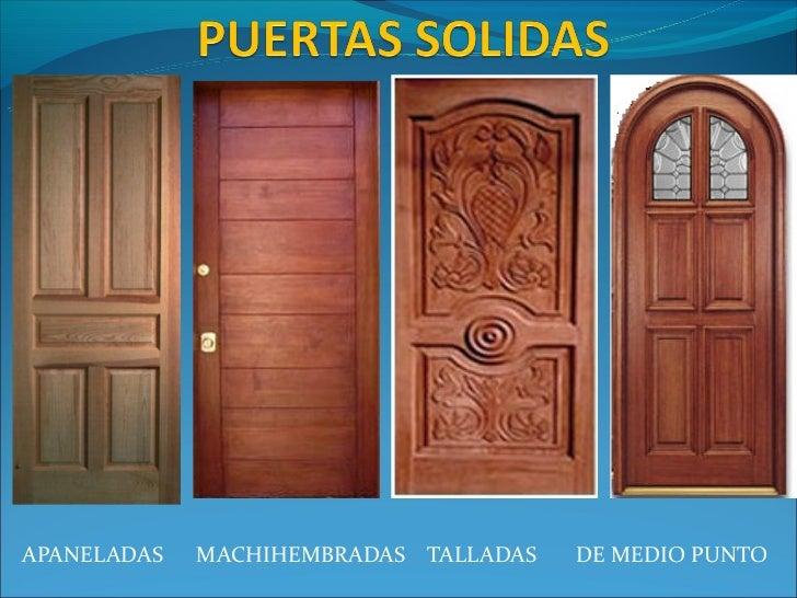 Tipos de puertas de madera perfect puertas de acero with - Tipos de puertas de madera ...
