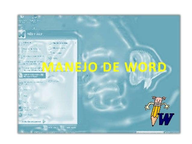 MANEJO DE WORD