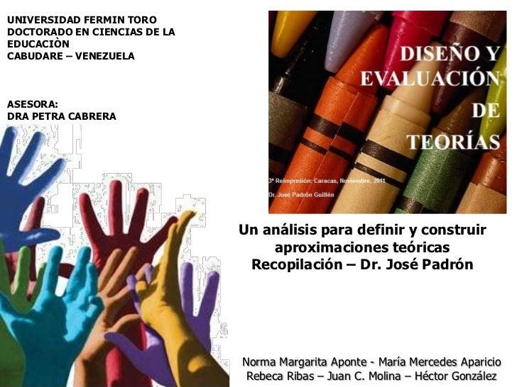 UNIVERSIDAD FERMIN TORODOCTORADO EN CIENCIAS DE LAEDUCACIÒNCABUDARE – VENEZUELAASESORA:DRA PETRA CABRERA                  ...