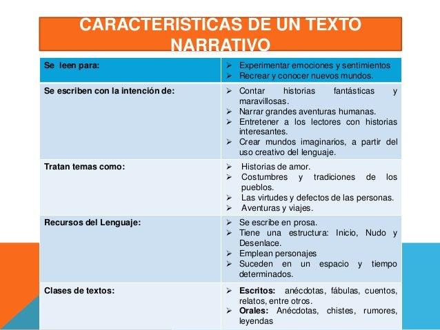 Diapositivas Textos Narrativos 1