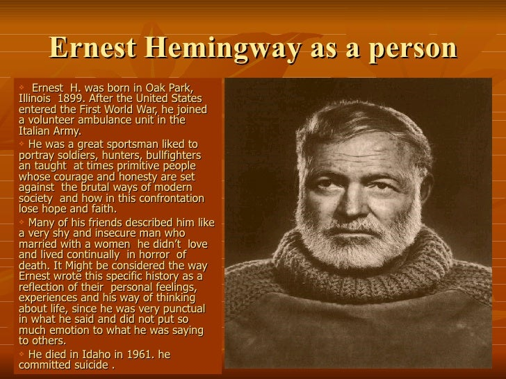 "Comparing Hemingway's ""The End of Something"""