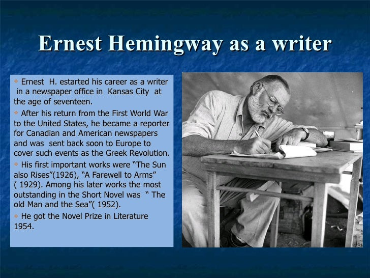 an analysis of the end of something by ernest hemingway Ernest hemingway , charlevoix mi and the end of something hemingway's first marriage to hadley richardson ernest and hadley spent their honeymoon at the.