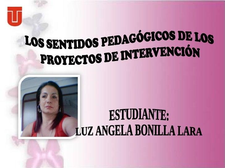 ESTUDIANTE: LUZ ANGELA BONILLA LARA