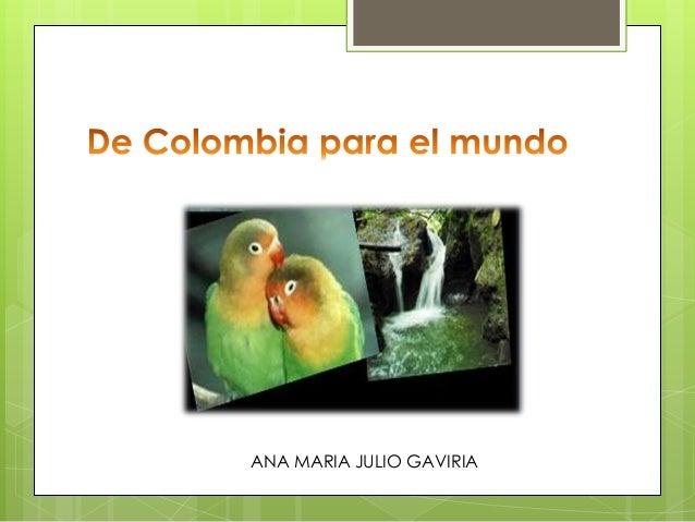 ANA MARIA JULIO GAVIRIA