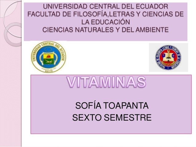 UNIVERSIDAD CENTRAL DEL ECUADOR FACULTAD DE FILOSOFÍA,LETRAS Y CIENCIAS DE LA EDUCACIÓN CIENCIAS NATURALES Y DEL AMBIENTE ...