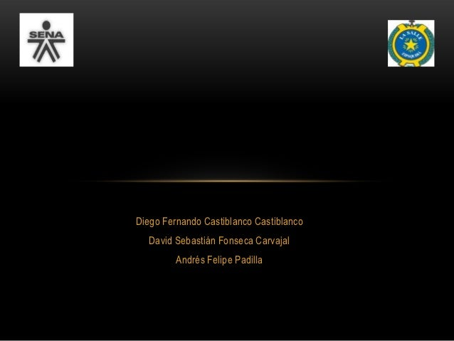 Diego Fernando Castiblanco Castiblanco  David Sebastián Fonseca Carvajal         Andrés Felipe Padilla