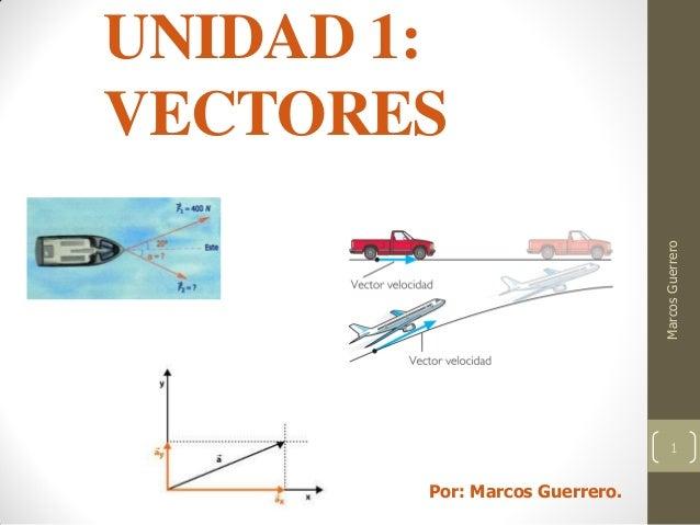 UNIDAD 1: VECTORES MarcosGuerrero 1 Por: Marcos Guerrero.