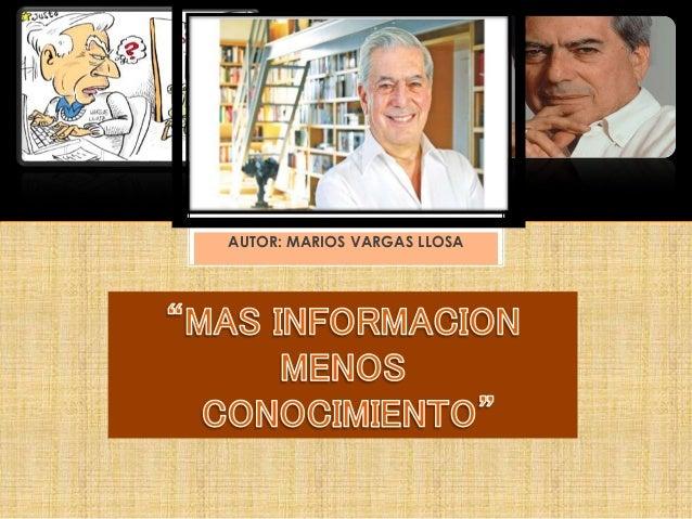 AUTOR: MARIOS VARGAS LLOSA