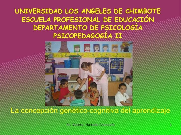 UNIVERSIDAD LOS ANGELES DE CHIMBOTE   ESCUELA PROFESIONAL DE EDUCACIÓN      DEPARTAMENTO DE PSICOLOGÍA           PSICOPEDA...