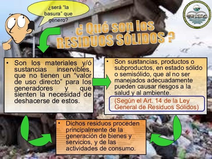Técnicas Generales para el Manejo de Residuos Solidos Slide 3