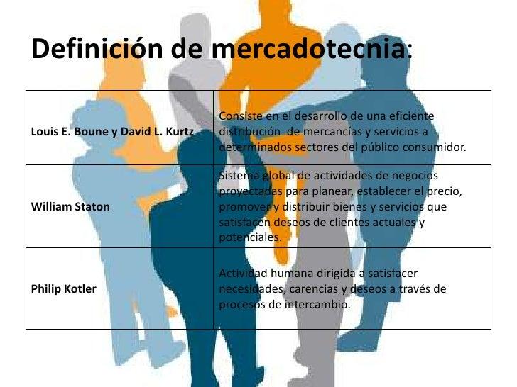 Definición de mercadotecnia:                                  Consiste en el desarrollo de una eficienteLouis E. Boune y D...