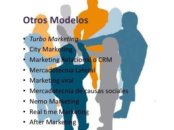 Otros Modelos•   Turbo Marketing•   City Marketing•   Marketing Relacional o CRM•   Mercadotecnia Lateral•   Marketing vir...