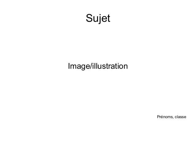 Sujet Image/illustration Prénoms, classe