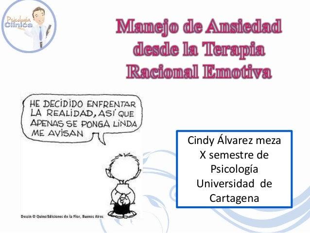 Cindy Álvarez meza X semestre de Psicología Universidad de Cartagena