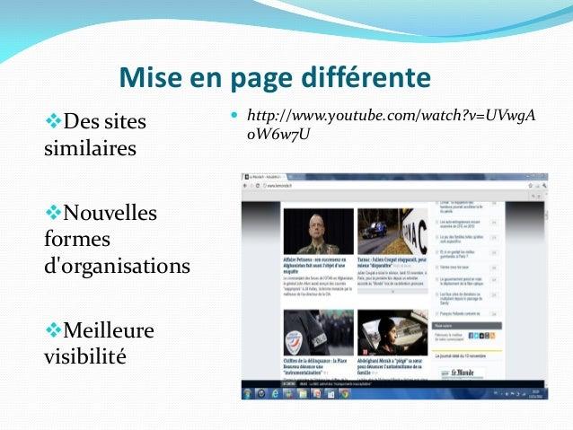 Mise en page différente                   http://www.youtube.com/watch?v=UVwgADes sites          oW6w7UsimilairesNouvel...