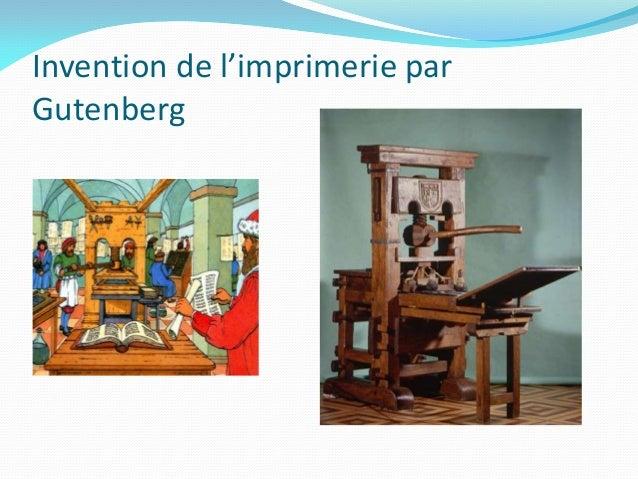 Invention de l'imprimerie parGutenberg