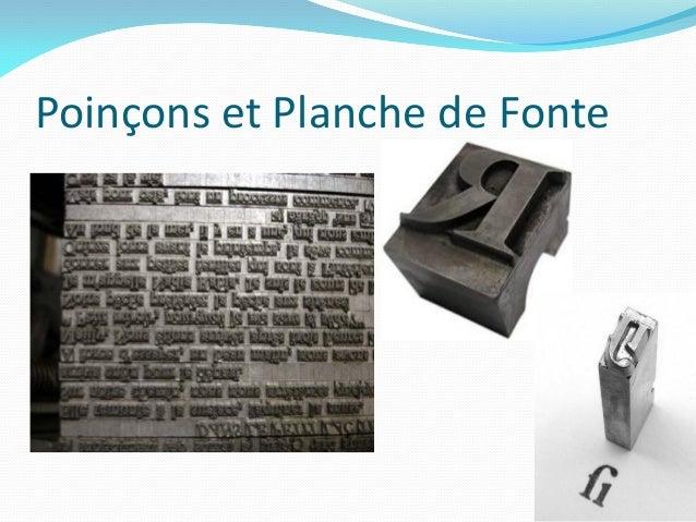 Poinçons et Planche de Fonte