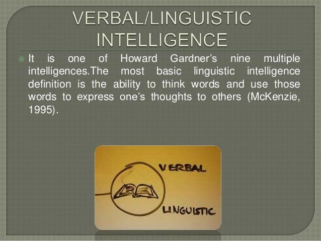 Verbal linguistic intelligence