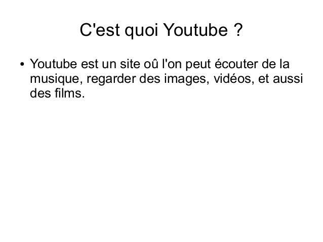 Diapo youtube Slide 2