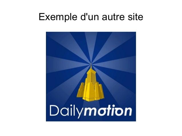 Exemple d'un autre site