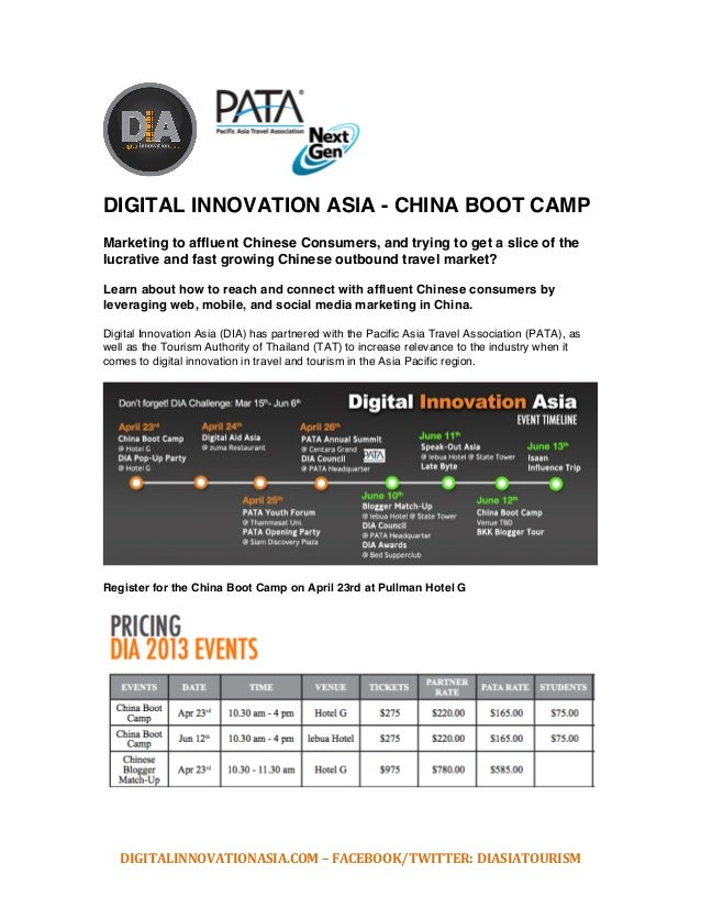 DIGITALINNOVATIONASIA.COM	  –	  FACEBOOK/TWITTER:	  DIASIATOURISM	  	  	  	  	  	  	   	  	  DIGITAL INNOVATION ASIA - CHI...