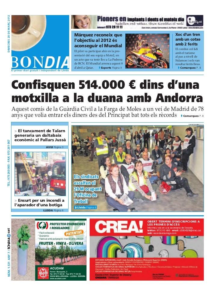 dimecres 28 DE març 2012                                                                                           Márquez...